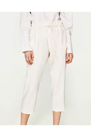 Femme Pantalons larges - Zara PANTALON FLUIDE 7/8