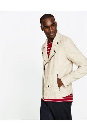 82d101163674 Homme Blousons - Zara BLOUSON BIKER EN LIN - Disponible en d autres coloris