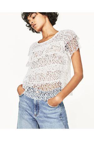 Femme Tops & T-shirts - Zara TOP À VOLANTS GUIPURE