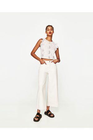 Femme Tops & T-shirts - Zara TOP COURT À VOLANTS