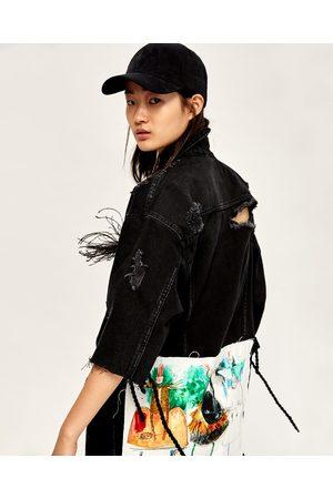 Femme Vestes en jean - Zara BLOUSON EN JEAN LONG