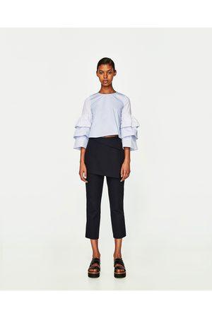 Femme Tops & T-shirts - Zara TOP À RAYURES ET VOLANTS