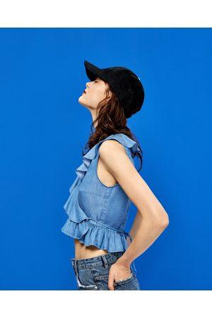 Femme Tops & T-shirts - Zara TOP À VOLANTS TISSU RECYCLÉ