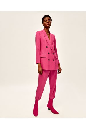 Femme Pantalons - Zara PANTALON 7/8 ÉLASTIQUE - Disponible en d'autres coloris
