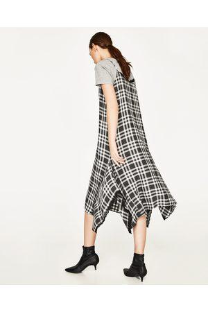 Femme Robes imprimées - Zara ROBE STYLE LINGERIE À CARREAUX