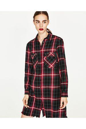 Femme Robes imprimées - Zara ROBE À CARREAUX