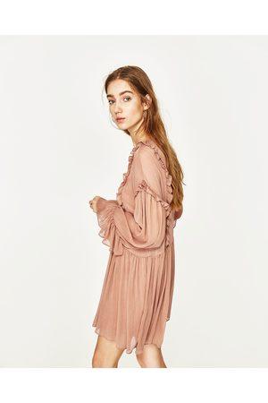 Femme Robes - Zara ROBE À VOLANTS ET BRILLANT