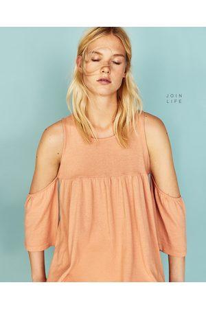 Femme Tops & T-shirts - Zara TOP À ÉPAULES AJOURÉES - Disponible en d'autres coloris