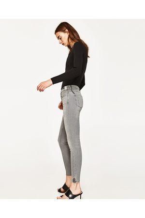 pantalon zara femme gris
