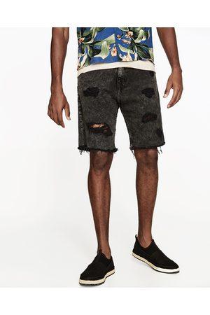 Dechire Shorts En Jean Homme De Couleur Noir - Comparez Et Achetez