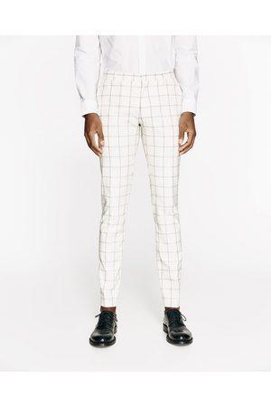 Homme Pantalons - Zara PANTALON DE COSTUME A CARREAUX