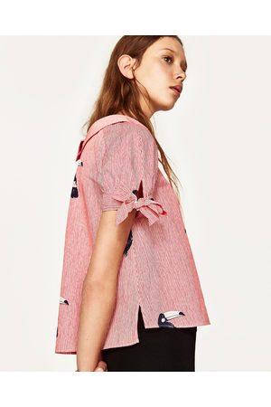Femme Tops & T-shirts - Zara TOP IMPRIMÉ À RAYURES