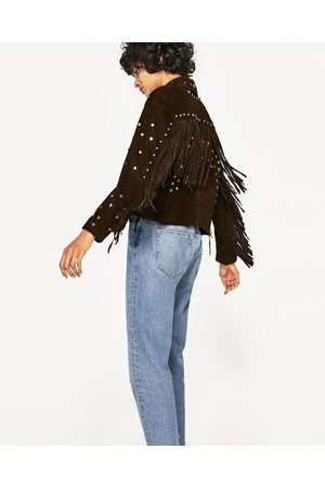 Femme Vestes en cuir - Zara BLOUSON EN DAIM