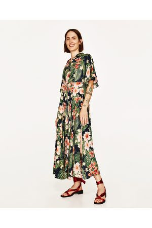 low cost best quality sneakers ROBE LONGUE FLORALE À COL CHEMISE