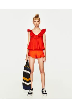Femme Tops & T-shirts - Zara TOP À VOLANTS - Disponible en d'autres coloris
