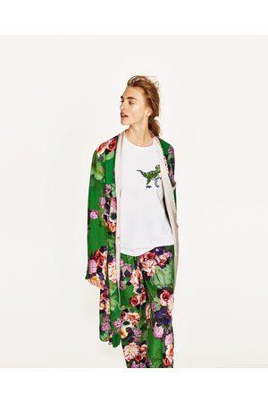 Femme Kimonos - Zara KIMONO LONG À IMPRIMÉ FLORAL