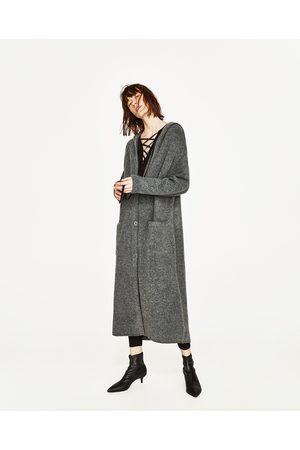 Femme Vestes - Zara VESTE LONGUE À CAPUCHE - Disponible en d'autres coloris