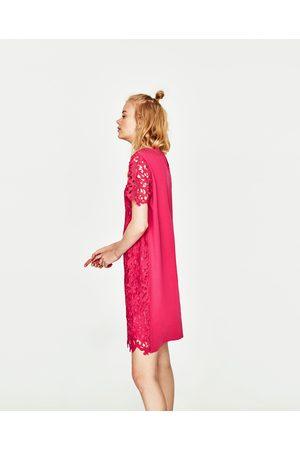Zara ROBE COURTE EN DENTELLE - Disponible en d'autres coloris