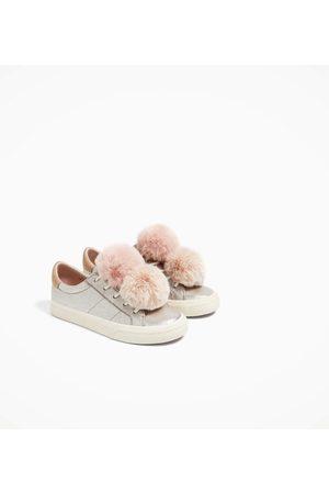 Zara Comparez Achetez Avec Chaussures Fille Wqcbs Pompons Et RwxZ5TZ8q