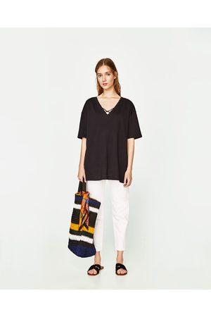Zara T-SHIRT À BRIDES CROISÉES - Disponible en d'autres coloris