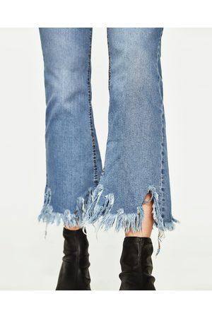 Jeans Mini Haute Cropped Flare Taille sCthdQr