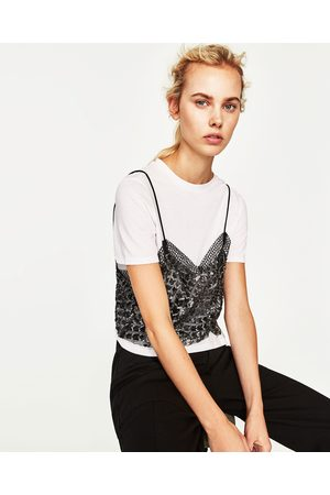 15d557e8617 Tops   t-shirts femme double Zara - comparez et achetez