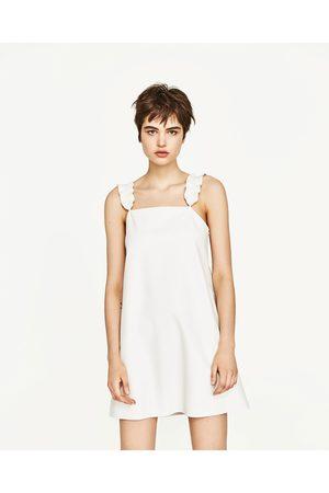 Femme Robes - Zara ROBE EN SIMILI CUIR À VOLANTS