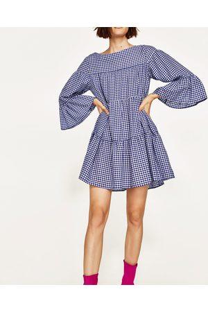 Femme Robes imprimées - Zara ROBE COURTE VICHY - Disponible en d'autres coloris