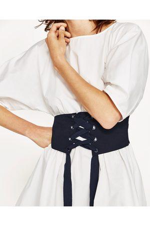 Femme Corsets - Zara ROBE EN POPELINE AVEC CORSET