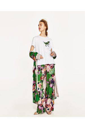 Femme Pantalons larges - Zara PANTALON AMPLE IMPRIMÉ