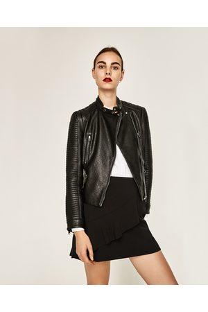 Femme Vestes en cuir - Zara BLOUSON EFFET CUIR