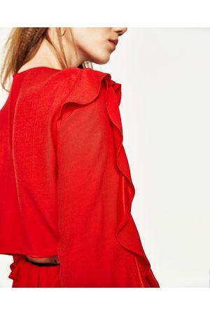 Femme Chemises - Zara TOP À VOLANTS
