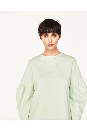 Femme Sweatshirts - Zara SWEAT AVEC MANCHES BOUFFANTES