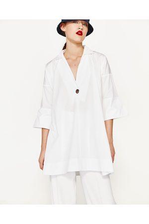 Femme Robes - Zara POPLIN SHIRT DRESS