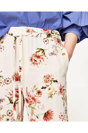 Femme Pantalons - Zara PANTALON IMPRIMÉ FLEURS