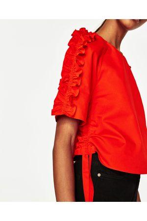 Femme Tops & T-shirts - Zara TOP À VOLANTS AUX MANCHES