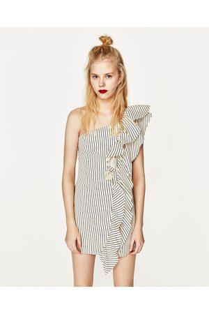 Femme Robes asymétriques - Zara ROBE EN JEAN ASYMÉTRIQUE À RAYURES
