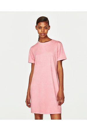 Femme Robes - Zara ROBE EFFET DAIM - Disponible en d'autres coloris