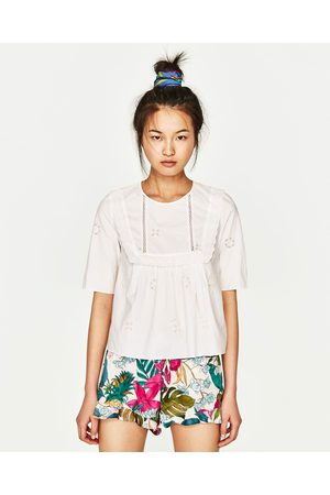 Femme Tops & T-shirts - Zara TOP BRODÉ