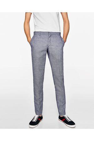 pantalon zara homme bleu marine