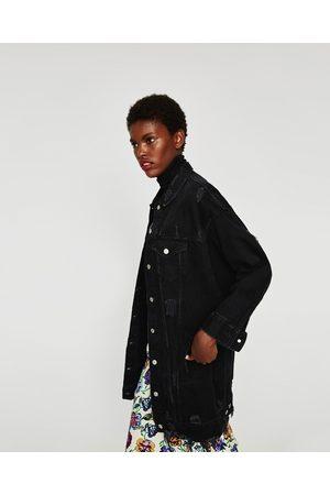 Acheter blousons femme zara en ligne comparer acheter - Schwarze jeansjacke damen ...