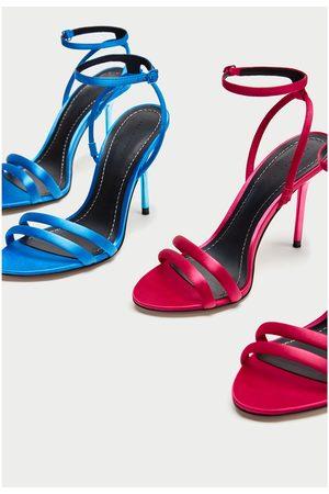 Zara SANDALES À TALONS EN SATIN - Disponible en d'autres coloris