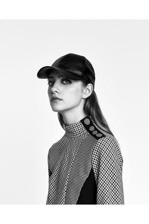 Zara CASQUETTE EFFET CUIR