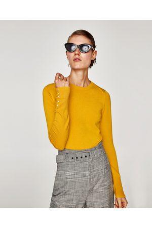 Zara PULL AVEC PERLES AUX POIGNETS - Disponible en d'autres coloris