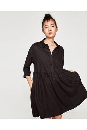 Robe chemise noire zara