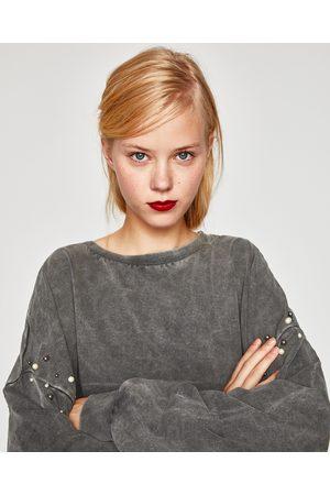 Zara SWEAT AVEC PERLES AUX MANCHES
