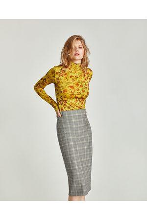 a15131d85f9b Jupes crayon femme mini-jupe carreaux Zara - comparez et achetez