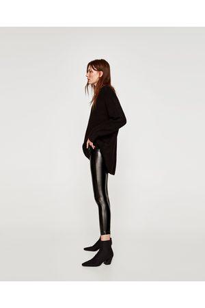 Zara LEGGING EN VINYLE AVEC DÉTAIL À LA TAILLE