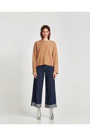 Zara PULL SOFT AVEC PERLES - Disponible en d'autres coloris