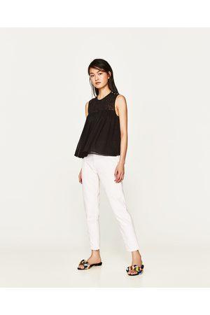 Zara TOP EN PLUMETIS BRODÉ - Disponible en d'autres coloris